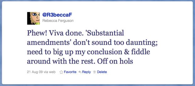 Post-viva tweet