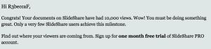 Slideshare email