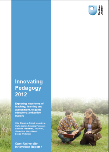Innovating Pedagogy 2012: report cover