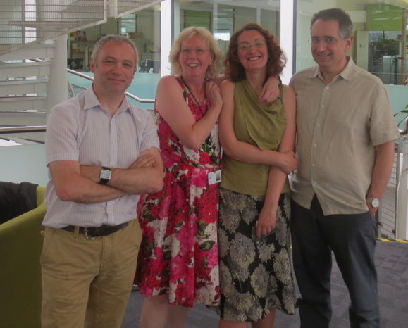 Claudia and her viva examiners