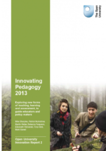 Cover of Innovating Pedagogy 2013