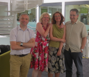Claudia and I, with examiners Martin Weller and Tim Hitchcock