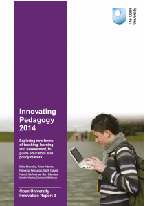 Cover of Innovating Pedagogy 2014