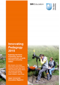 Innovating Pedagogy 2015 cover
