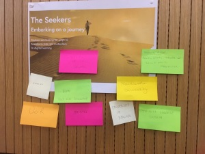 Brainstorming exercise around the roles of FutureLearn partners