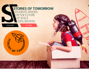 Stories website image and logo